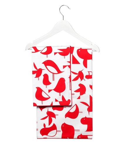 Komplet pościeli czerwone ptaki