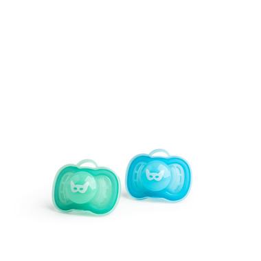 Herobility, Smoczek uspokajający HeroPacifier, 6 m+, niebieski/turkusowy, 2 szt.