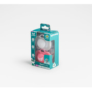 Herobility, Smoczek uspokajający HeroPacifier, 0 m+, różowy/biały, 2 szt.