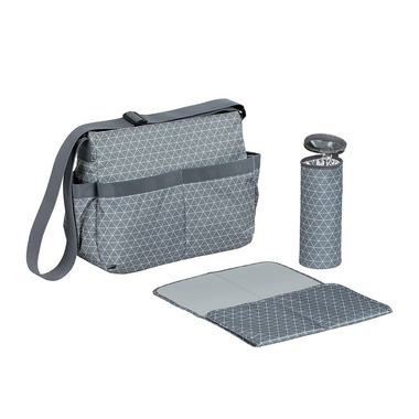 Lassig, Marv Torba z akcesoriami Shoulder bag Tiles grey
