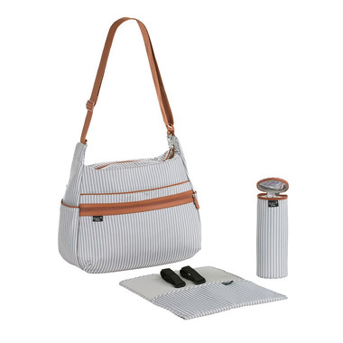 Lassig, Marv Torba z akcesoriami Urban bag Pinstripe light grey