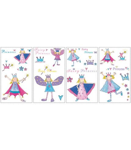 Naklejki  wielokrotnego użytku - Bajkowe księżniczki