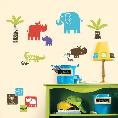 RoomMates, naklejki  wielokrotnego użytku - Kolorowe Safari