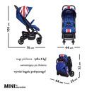 Easywalker, MINI by Easywalker Buggy XS Wózek spacerowy z osłonką przeciwdeszczową Union Jack Classic