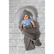 Śpiworek otulaczek brązowo-szary Snoozebaby