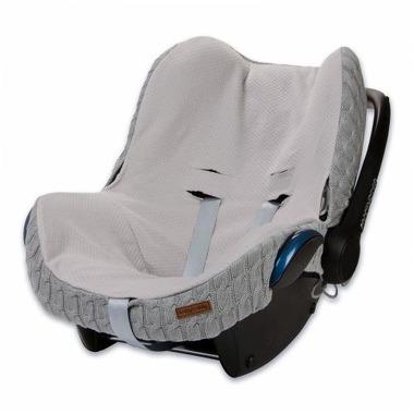 Baby's Only, Cable Light Grey Ochraniacz na fotelik samochodowy 0+, jasny szary