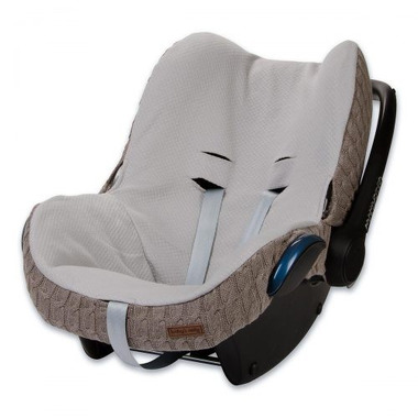 Baby's Only, Cable Taupe Ochraniacz na fotelik samochodowy 0+, brązowy