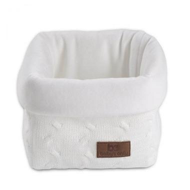 Baby's Only, Cable White Koszyk na przybory 17x20x14 cm, Biały