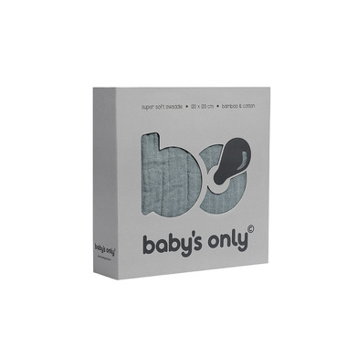 Baby's Only, Otulacz bambusowy, kamienna zieleń, 120x120cm