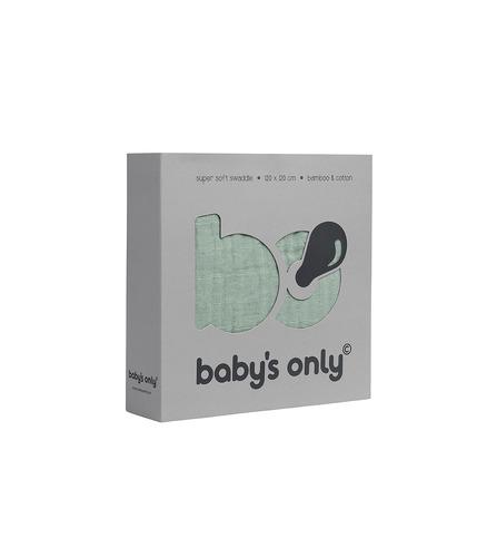 Baby's Only, Otulacz bambusowy, miętowa, 120x120cm