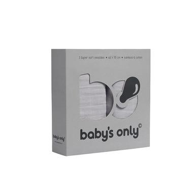 Baby's Only, Otulacze bambusowe, silvergrey, 60x70cm, 2 szt.