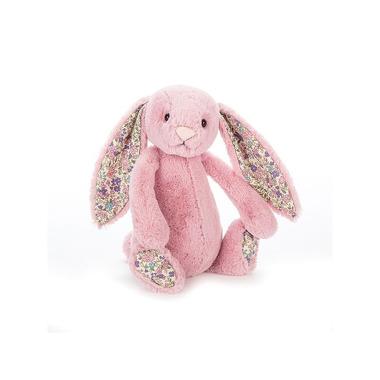 Jellycat, Króliczek dzwoneczek różowy z kolorowymi uszami 25cm