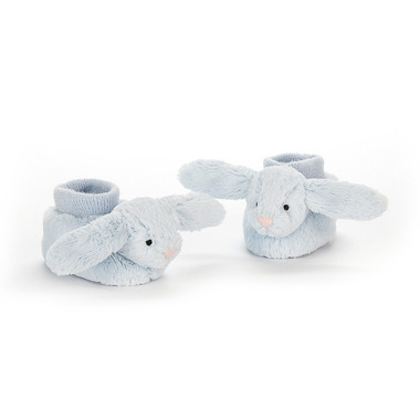 Jellycat, Buciki z króliczkami niebieskie 10cm