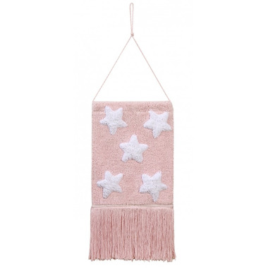Lorena Canals, Wall Hanging Stars Pink