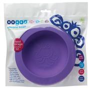 Oogaa, Purple Bowl & Lid silikonowa miseczka z pokrywką