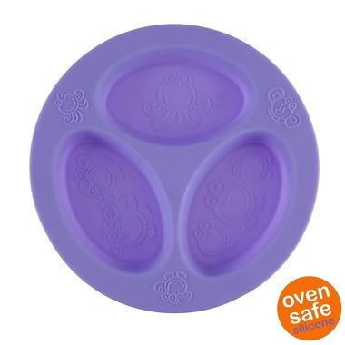 Oogaa, Purple Divided Plate silikonowy talerzyk trójdzielny
