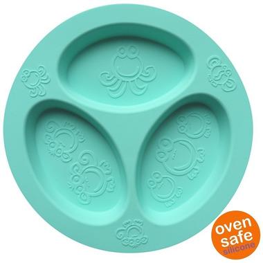 Oogaa, Jewel Blue Divided Plate silikonowy talerzyk trójdzielny