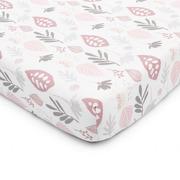 ColorStories, Prześcieradło do łóżeczka Floral zamglony róż 120×60 cm