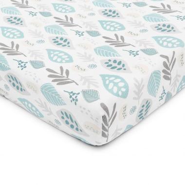 ColorStories, Prześcieradło do łóżeczka Floral turkus 140×70 cm