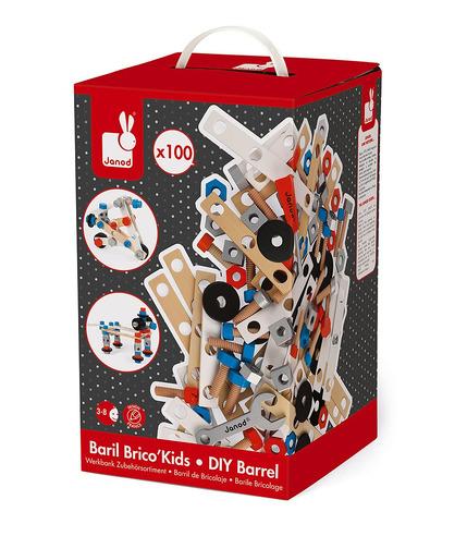 Janod, Zestaw konstruktora 100 elementów Brico 'Kids kolekcja 2018