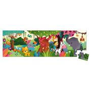 Janod, Puzzle panoramiczne w walizce Dżungla 36 elementów