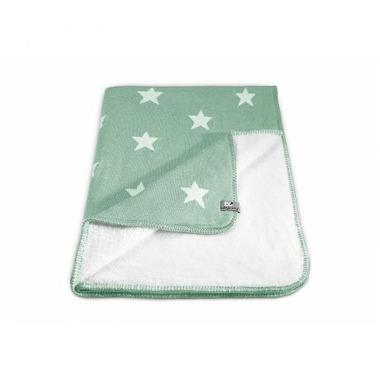 Baby's Only, Star Kocyk niemowlęcy dwustronny z minky, 95x70cm, Miętowy/Biały