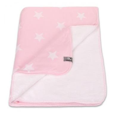 Baby's Only, Star Kocyk niemowlęcy dwustronny z minky, 95x70cm, Różowy/Biały