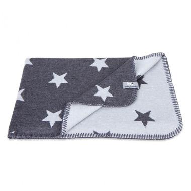 Baby's Only, Star Kocyk niemowlęcy dwustronny, 95x70cm, Antracyt/Biały