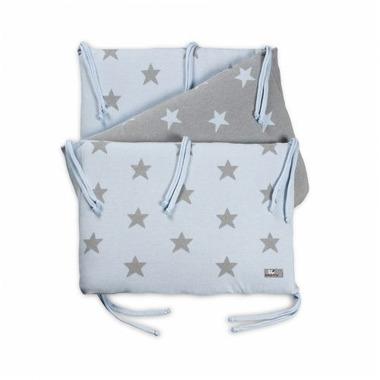 Baby's Only, Star Ochraniacz na łóżeczko, 40x180cm, Błękitny/Szary