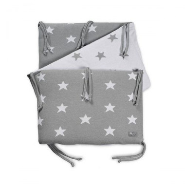 Baby's Only, Star Ochraniacz na łóżeczko, 40x180cm, Jasnoszary/Biały