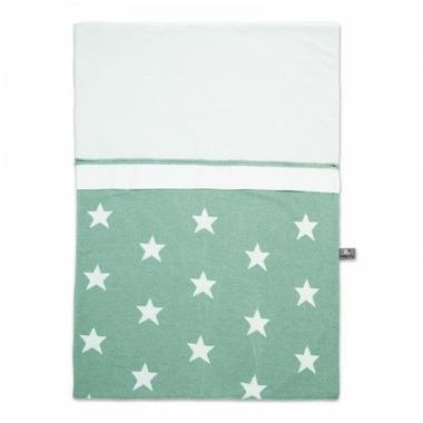 Baby's Only, Star Okrycie do łóżeczka podszyte prześcieradełkiem, 135x100cm, Miętowy/Biały