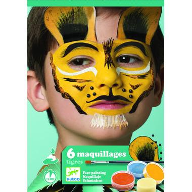 Djeco, Zestaw do malowania twarzy TIGER
