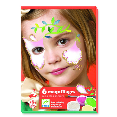 Djeco, Zestaw do malowania twarzy FLOWER