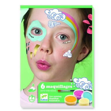 Djeco, Zestaw do malowania twarzy RAINBOW
