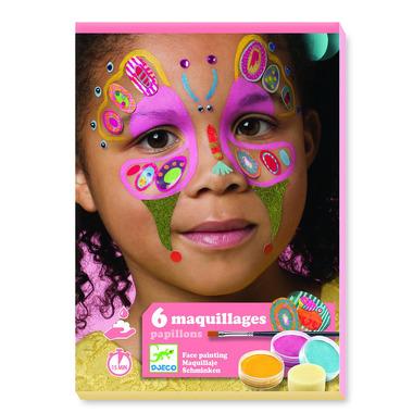 Djeco, Zestaw do malowania twarzy BUTTERFLY