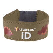 LittleLife, Neoprenowa opaska informacyjna ID - Dinozaur