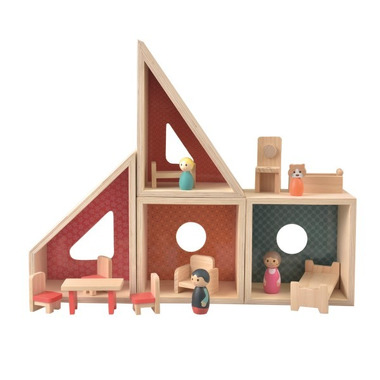 Egmont Toys, Drewniany domek dla lalek z figurkami i wyposażeniem