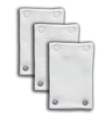 Nanaf Organic, BASIC, Zestaw przedłużaczy do body, biały, 3 SZTUKI