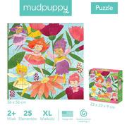 Mudpuppy, Puzzle podłogowe Jumbo Wróżki 25 elementów 2+