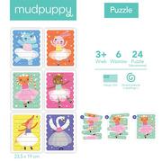 Mudpuppy, Puzzle Patyczki Tańczące baletnice 24 elementy 3+