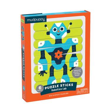 Mudpuppy, Puzzle Patyczki Roboty 24 elementy 3+