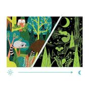 Mudpuppy, Puzzle świecące w ciemności W lesie 100 elementów 5+