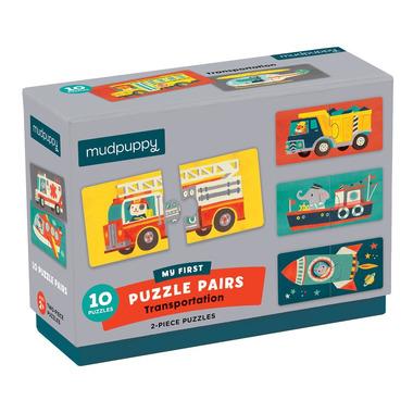 Mudpuppy, Dwuczęściowe puzzle Środki transportu 10 par 2+