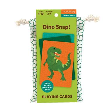 Mudpuppy, Gra karciana Dino kłap! w podróżnym opakowaniu 4+
