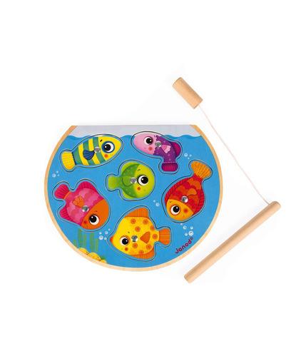 Janod, Puzzle z magnesami Szybkie rybki z wędką