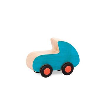 Btoys, Drewniane mini autko Free Wheee-lees wyścigówka