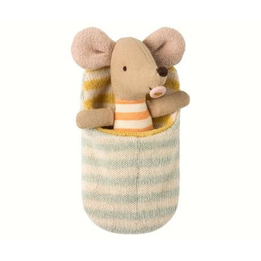 Maileg, Myszka Baby Mouse in sleeping bag