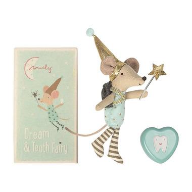 Maileg, Myszka  zębuszka Big brother mouse z metalowym pudełkiem na ząbek