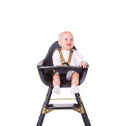 Childhome, Krzesełko do karmienia Evolu 2 Black/Gold
