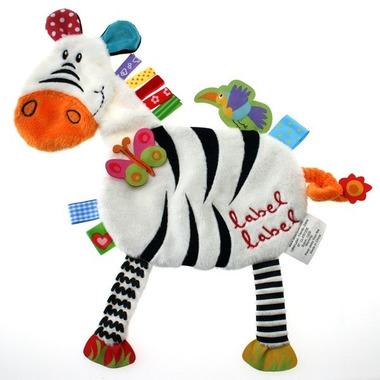 Przytulanka kocyk z metkami Label Label - Zebra